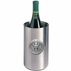 Virginia Military Institute Pewter Stainless Steel Wine Bottle Chiller