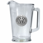 Virginia Military Institute VMI Keydets Glass Pitcher w/ Pewter Accent