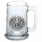 Virginia Military Institute VMI Keydets Pewter Accent Glass Beer Mug
