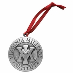 Virginia Military Institute VMI Keydets Pewter Ornaments, Set of 2