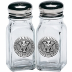 Virginia Military Institute VMI Keydets Pewter Salt & Pepper Shakers