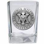 Virginia Military Institute VMI Keydets Pewter Shot Glasses, Set of 4