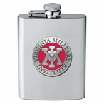 Virginia Military Institute VMI Keydets Red Flask with Pewter Accent