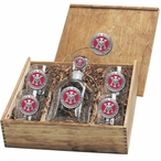 Virginia Military Institute VMI Keydets Red Pewter Decanter Box Set