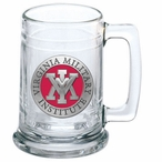 Virginia Military Institute VMI Keydets Red Pewter Glass Beer Mug