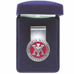 Virginia Military Institute VMI Keydets Red Pewter Steel Money Clip