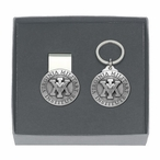 Virginia Military Institute VMI Pewter Money Clip & Key Chain Gift Set