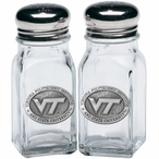 Virginia Tech Hokies Logo Pewter Accent Salt & Pepper Shakers