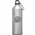 Virginia Tech Hokies Logo Pewter Accent Stainless Steel Water Bottle