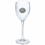 Virginia Tech Hokies Logo Pewter Accent Wine Glass Goblets, Set of 2