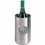 Virginia Tech Hokies Logo Pewter Stainless Steel Wine Bottle Chiller