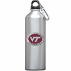 Virginia Tech Hokies Logo Red Pewter Stainless Steel Water Bottle