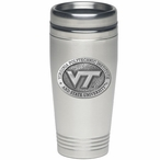 Virginia Tech Hokies Logo Stainless Steel Travel Mug w/ Pewter Accent