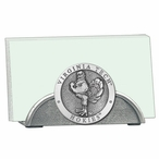 Virginia Tech Hokies Metal Business Card Holder with Pewter Accent