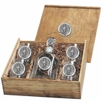 Virginia Tech Hokies Pewter Accent Capitol Decanter Box Set