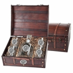 Virginia Tech Hokies Pewter Accent Capitol Decanter Chest Set