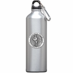 Virginia Tech Hokies Pewter Accent Stainless Steel Water Bottle