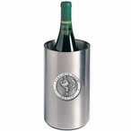 Virginia Tech Hokies Pewter Stainless Steel Wine Bottle Cooler Chiller