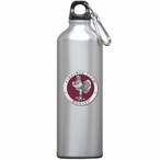 Virginia Tech Hokies Red Pewter Accent Stainless Steel Water Bottle