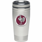 Virginia Tech Hokies Red Stainless Steel Travel Mug with Pewter Accent