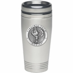Virginia Tech Hokies Stainless Steel Travel Mug with Pewter Accent