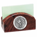 Virginia Tech Hokies Wood Business Card Holder with Pewter Accent