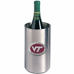 Virginia Tech Logo Red Pewter Stainless Steel Wine Bottle Chiller