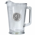 Virginia Tech University Hokies Glass Pitcher with Pewter Accent