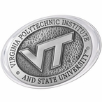 Virginia Tech University Hokies Logo Pewter Accent Paperweight