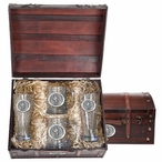 Virginia Tech University Hokies Pewter Accent Beer Chest Box Set