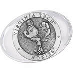Virginia Tech University Hokies Pewter Accent Paperweight