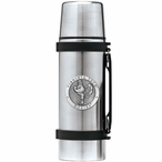 Virginia Tech University Hokies Pewter Accent Stainless Steel Thermos