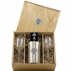 Virginia Tech University Hokies Pewter Accent Wine Box Set