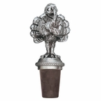Virginia Tech University Hokies Pewter Wine Bottle Stopper