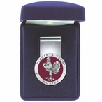 Virginia Tech University Hokies Red Pewter Accent Steel Money Clip