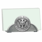 VMI Keydets Metal Business Card Holder with Pewter Accent