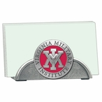 VMI Keydets Red Metal Business Card Holder with Pewter Accent