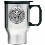 VMI Keydets Travel Mug with Handle & Pewter Accent