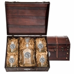 Washington State Cougars Pewter Accent Capitol Decanter Chest Set
