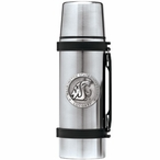 Washington State Cougars Pewter Accent Stainless Steel Thermos
