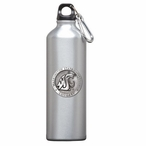 Washington State Cougars Pewter Accent Stainless Steel Water Bottle