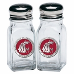 Washington State Cougars Red Pewter Accent Salt & Pepper Shakers