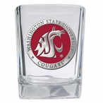 Washington State Cougars Red Pewter Accent Shot Glasses, Set of 4