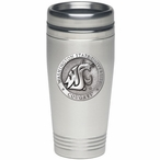 Washington State Cougars Stainless Steel Travel Mug with Pewter Accent
