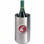 Washington State Red Pewter Accent Stainless Steel Wine Bottle Chiller