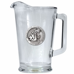 Washington State University Cougars Glass Pitcher with Pewter Accent