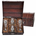 Washington State University Cougars Pewter Accent Beer Chest Box Set