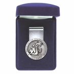 Washington State University Cougars Pewter Accent Steel Money Clip