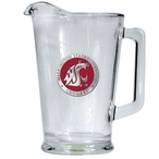 Washington State University Cougars Red Glass Pitcher w/ Pewter Accent