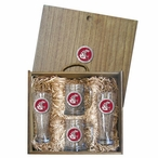 Washington State University Cougars Red Pewter Accent Beer Box Set